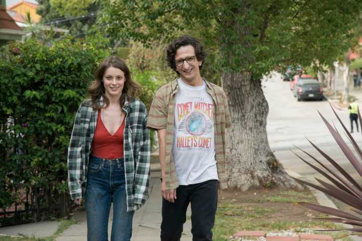 Mickey (Gillian Jacobs) and Gus (Paul Rust) in a fun moment during their volatile courtship in Judd Apatow's 'Love' on Netflix. March, 2016 Love