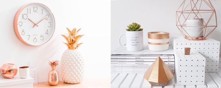 Home Office Decor: RoseGold
